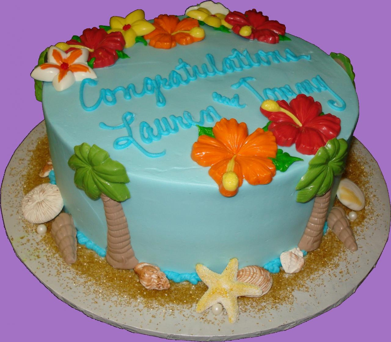 Tropical Cake Decorations